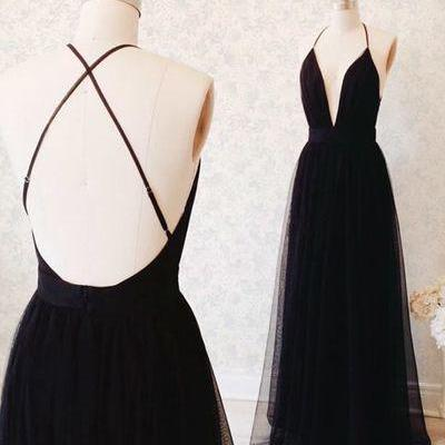 Formal Black Prom Dresses, tulle op..