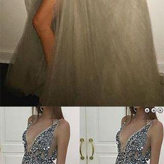 Backless Rhinestone prom dress, Sex..