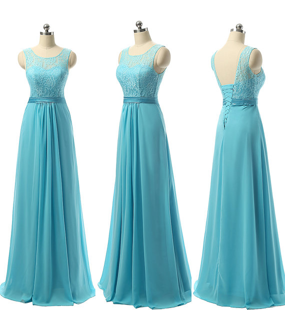 Light blue bridesmaid dresses lace bridesmaid dresses for Light blue lace wedding dress