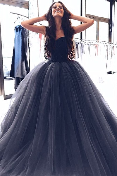 Ball Gown Prom Dresses,Tulle Prom Dress,Sweetheart Prom Dress,Cheap Prom Dresses DS546