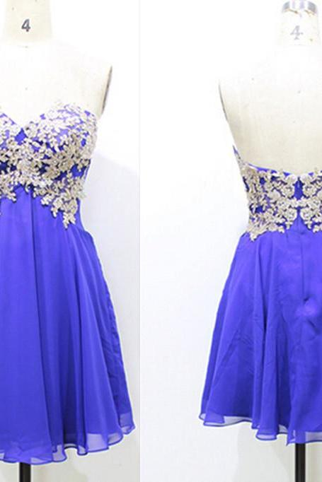 Ivory Lace Blue Empire Waist Short Prom Dress Homecoming Dresses ,Sweetheart Mini Length Short Homecoming Dress, Short Prom Dresses Cocktail Dresses,Wedding Party Gown For Sweet 16 Dresses,Graduation Dresses