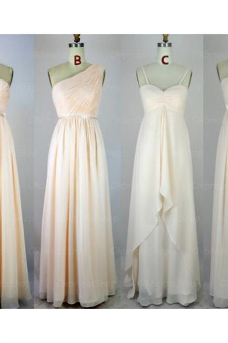 Long Bridesmaid Dresses, Chiffon Bridesmaid Dress,Empire Waist Bridesmaid Dresses,Custom Made Cheap Bridesmaid Gown,Simple Prom Dresses,Wedding Party Dresses,Graduation Dresses,Prom Gowns
