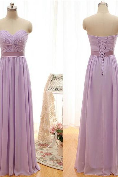 Lilac Chiffon Empire Waist Bridesmaid Dresses ,Sweetheart Ruffles Bridesmaid Dress,A Line Cheap Bridesmaid Dresses,Bridesmaid Gowns,Simple Prom Dresses,Graduation Dresses