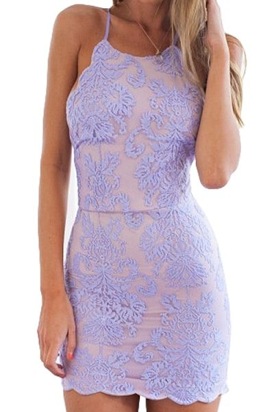Lavender Lace Pink Lining Mermaid Homecoming Dresses ,Halter Open Back Mini Length Homecoming Dress,Sexy Backless Short Prom Dresses Party Gowns,Sheath Wedding Party Dresses