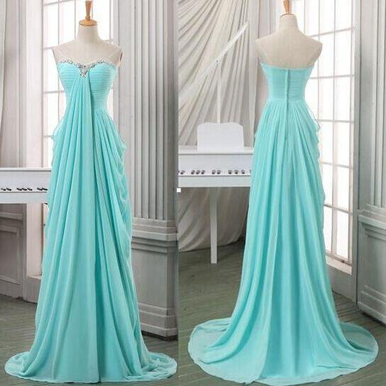A Line Empire Waist Mint High Low Prom Dresses,Beaded Sweetheart Long Evening Dress Prom,Formal Women Pregnant Dress,Graduation Dress