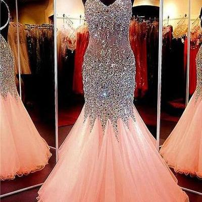 Mermaid Prom Dresses, Beading Prom Dress, Sexy Prom Dress, Long Evening Dresses, Formal Woman Dresses, Prom Dress